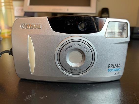 Câmera Fotográfica Canon Prima Zoom 65 - Em Estado De Nova