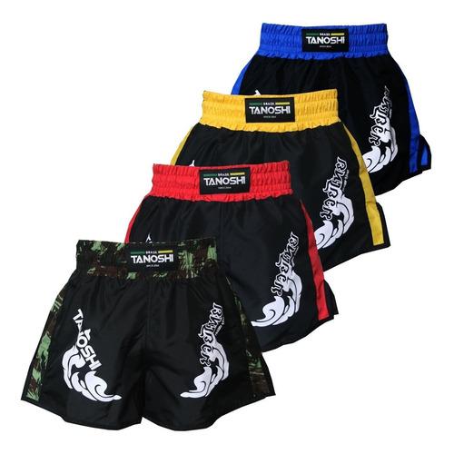 Kit 4 Shorts Muay-thai Trng - Estampado Direto Tanoshi