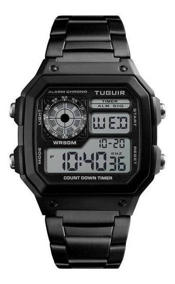Relógio Unissex Tuguir Digital Tg1335 Illuminator - Preto