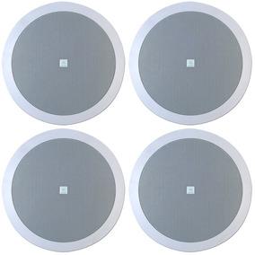 4 Arandela Som Ambiente Jbl Selenium 6fr2r P/ Gesso Redonda