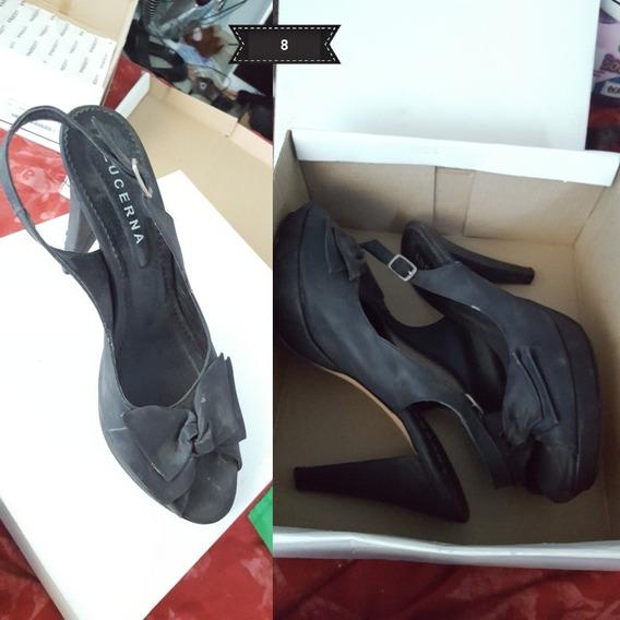 Zapato Lucerna Con Moño Color Negro.