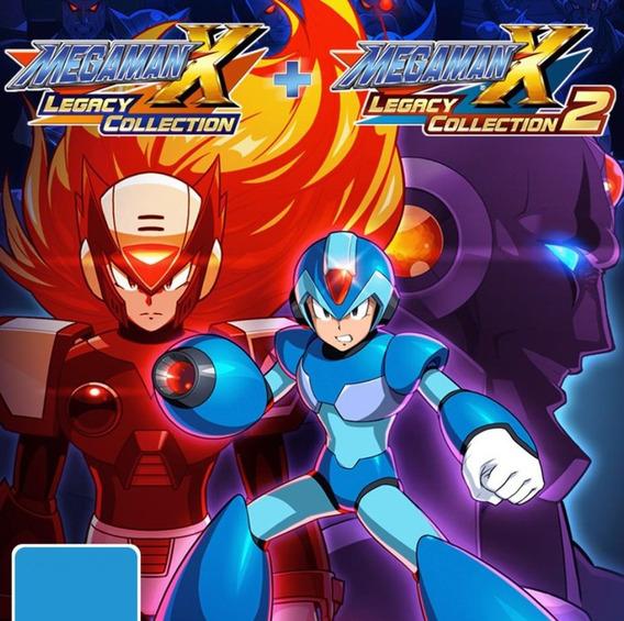 Mega Man X Collection 1 2 Nintendo Switch Jogo Digital Alug.