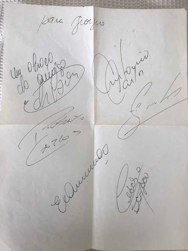 Autógrafos Originais De Parte Do Elenco Do Palmeiras De 1993