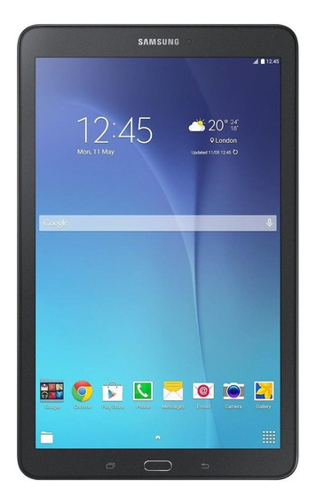 "Tablet Samsung Galaxy Tab E SM-T560 9.6"" 16GB black com memória RAM 1.5GB"