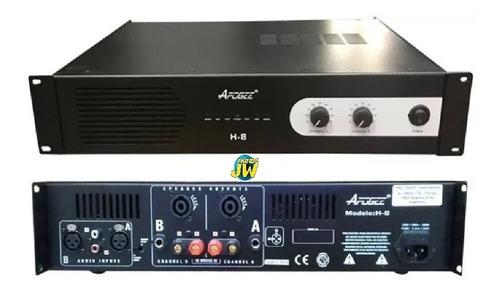 Apogee H8 Amplificador Potencia Sonido Dj 600w Rms Linea Pro