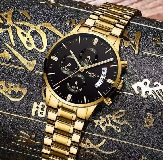 Relógio Masculino Nibosi Blindado Anti-risco 100%original