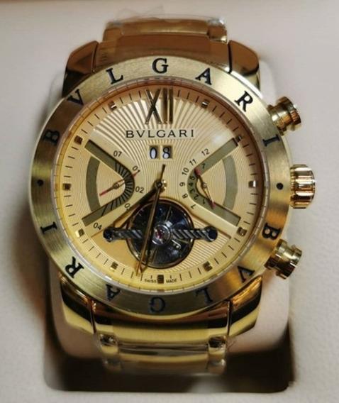 Relógio Masculino Bvllgari Automático Dourado