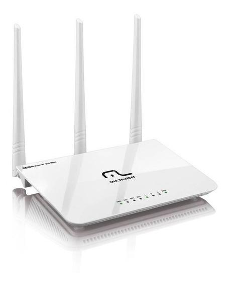 Roteador Wi-fi 3 Antenas Ipv6 300 Mbps Multilaser Re163v