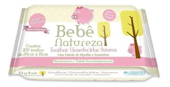 Toalhas Umedecidas Bebê Natureza 100 Unidades Rosa