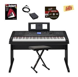 Yamaha Dgx-660 Paquete De Piano Digital Con Banco, Libro De