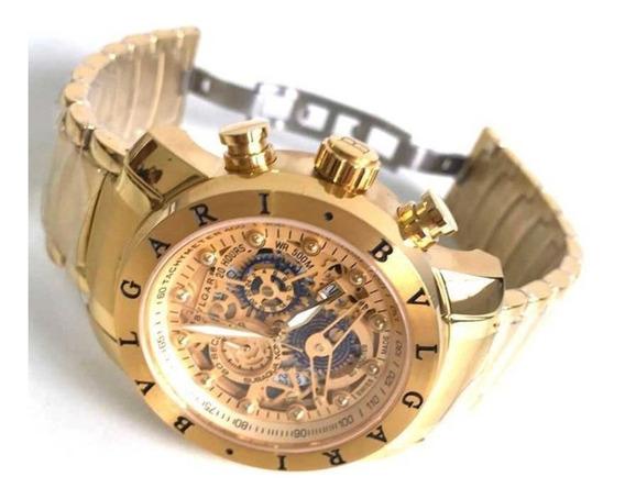 Relógio Masculino Bv Skeleto Frete Grátis