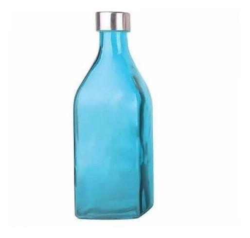 Garrafa De Vidro Scotch Colorida 1 L Azul