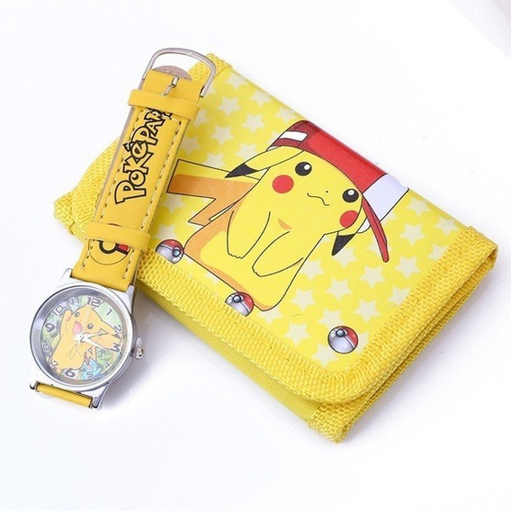 Kit Pokémon - Relógio E Bolsa, Infantil, Kids, Desenho
