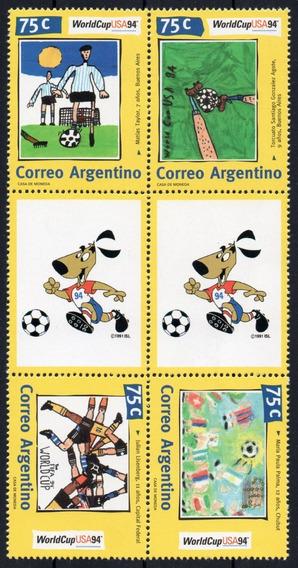 Argentina 1994 Gj 2674/7en** Mint Arte Pintura Infancia A