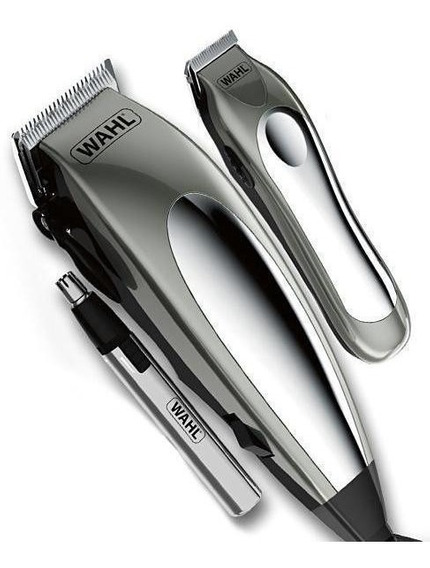 Kit Wahl 3x1 Maquina Cabelo Barba Nariz Deluxe Groom Pro