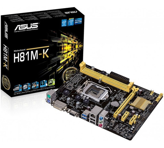 Kit Placa Mãe H81m-k Box + Core I5 4590 3,3 + Gab Atx + 8gb