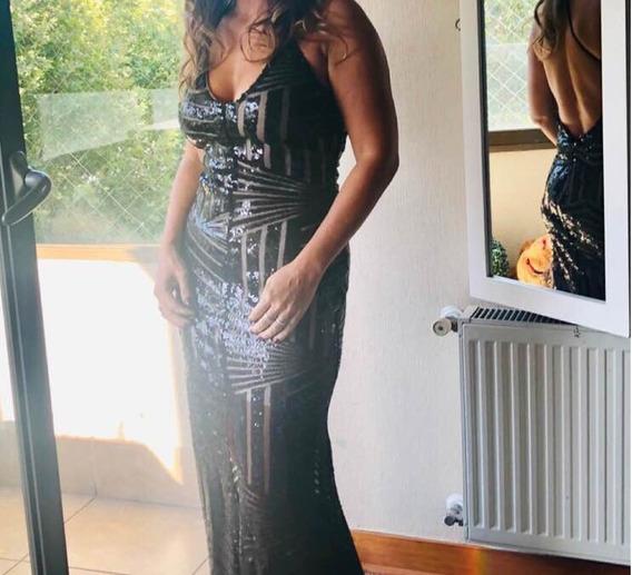 Vestido Negro Fiesta Largo