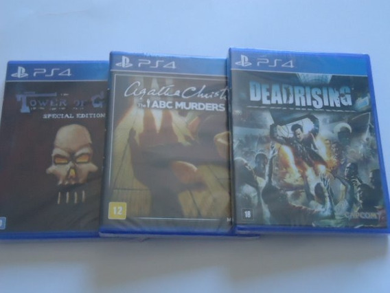 3 Ps4 Jogos - Abc Murders- Dead Rising- Tower Guns