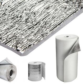 Aislante 10mm 2 Cara Aluminio+solapa Y Pegamento
