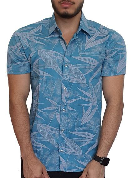 Camisa Social Estampada Floral (slim Fit)