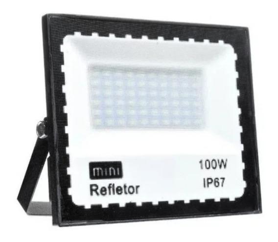 Refletor Led 100w Smd Prova D´água Ip67 Holofote 6500k