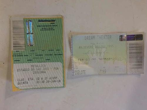 Ingresso Show Metallica Estádio São José Zequinha Poa 2010
