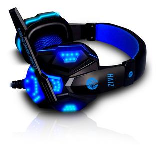 Headphone Gamer Deneb 1802 Luz Led Fio Corda E Microfone