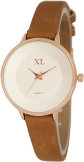 Reloj Xl Extra Large Moda Cuero Dama Xl779