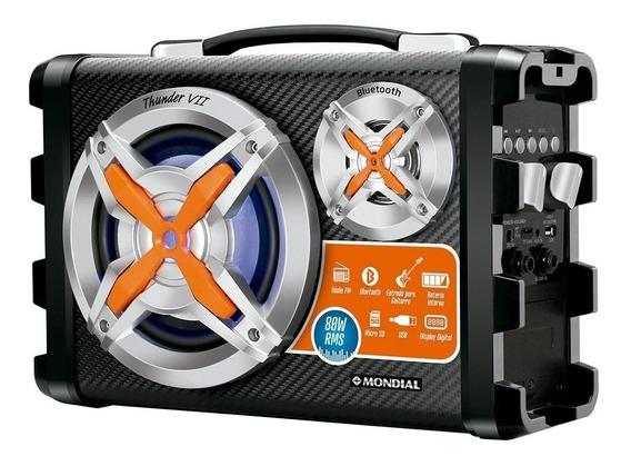 Caixa De Som Bluetooth Mp3 Aux 80w Potencia Som Ambiente Radio Fm Com Entrada Para Microfone E Guitarra Super Promoção