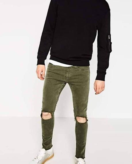Pantalon Rasgado Nuevo Zara Original