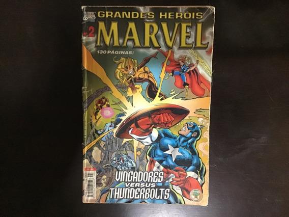 Hq Grandes Heróis Marvel Vingadores Versus Thunderbolts N2