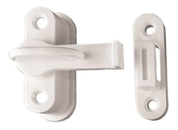 Trinco P/porta Sanfonada Perlex Branco 2 Unid