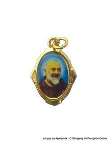 250 Medalhas De Alumínio Padre Pio