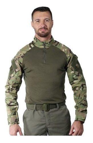 Camiseta Masculina Bélica Combat Shirt Soft Camuflada