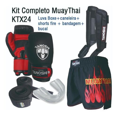 Kit Completo Muay-thai Tanoshi Ktx24 Fire