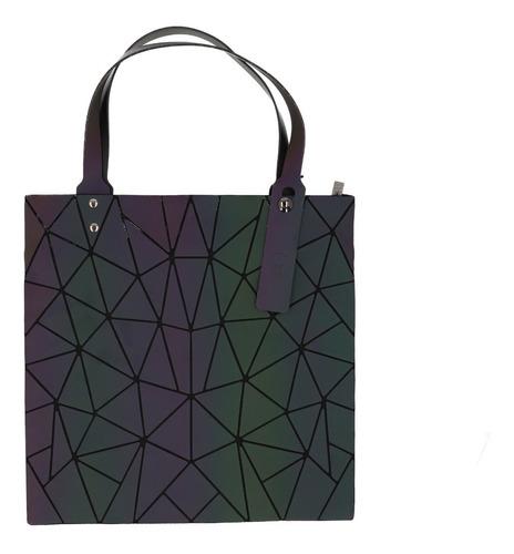 Imagen 1 de 4 de Bolsa De Dama Geometrica Tornasol Moderna Ligera Moda /e /v