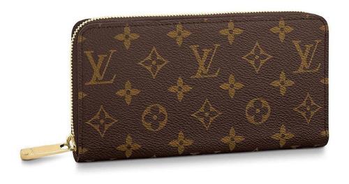 Billetera Louis Vuitton Zippy brown monogram canvas