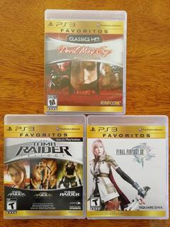 Devil May Cry, Tomb Raider, Final Fantasy 13 Ps3