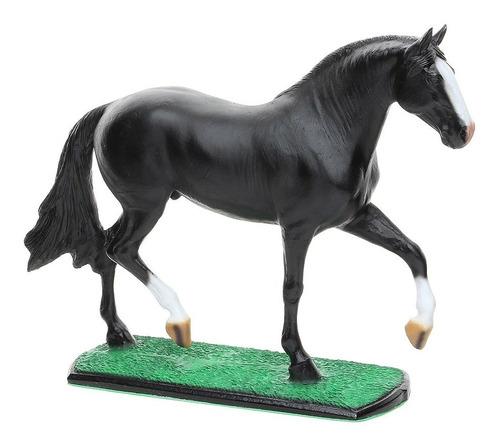 Escultura Em Resina Cavalo Mangalarga Marchador Preto Home W