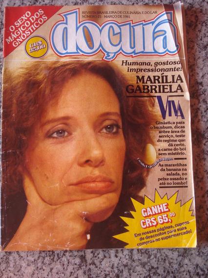 Revista Doçura 21 Marília Gabriela Culinária Ano 1981 F835