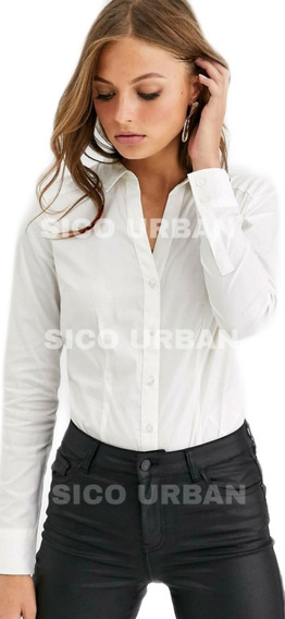 Camisa Elastizada Lisa Dama Ideal Bordar Empresas X Mayor