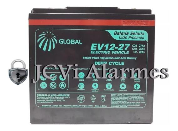 Bateria 12v 27ah Ev12-27 -triciclo Eletrico 1000w Bikemoto