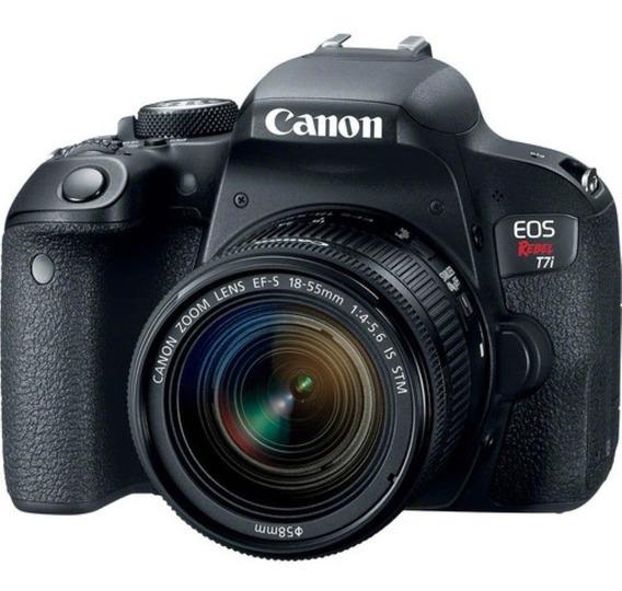 Câmera Dslr Canon Eos Rebel T7i 24.2mp 3 Touch/wi-fi/bluet
