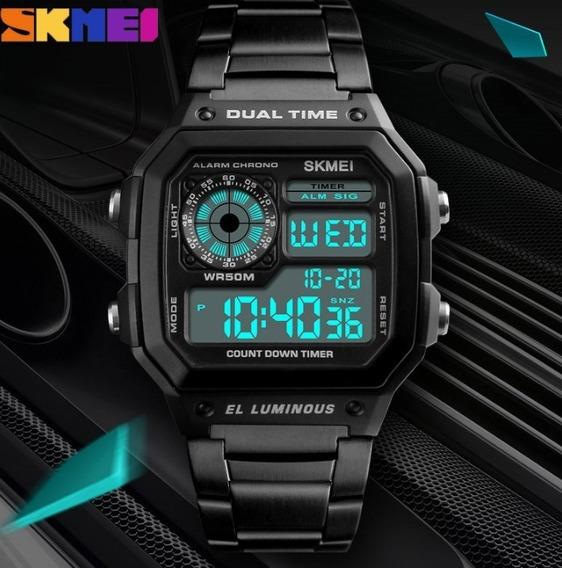 Relogio Unissex Skmei Casual Dual Time 5 Atm