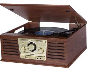 Toca Discos Sonata Bluetooth/cd/fm/gravação Vitrola Raveo
