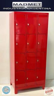 Locker Metalico 12 Casill-35cm Prof-cerradura- Pront Entreg