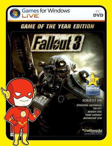 Fallout 3 Pc - Steam Key (envio Flash)