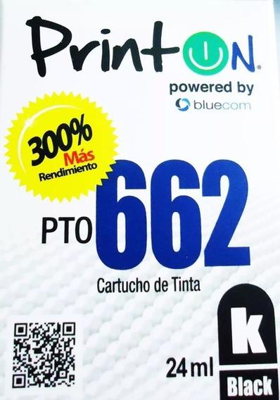 Cartucho Printon Para Hp 662 Negro