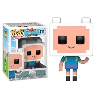 Funko Pop! Finn 411 - Adventure Time X Minecraft Muñeco
