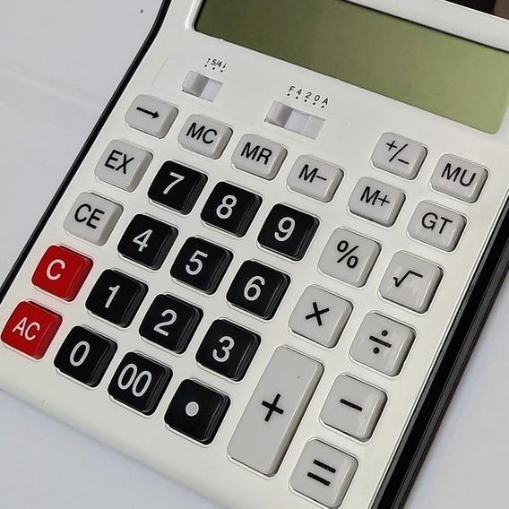 Calculadora De Mesa Mj8825 B 12 Digitos Tam Média A Pilha